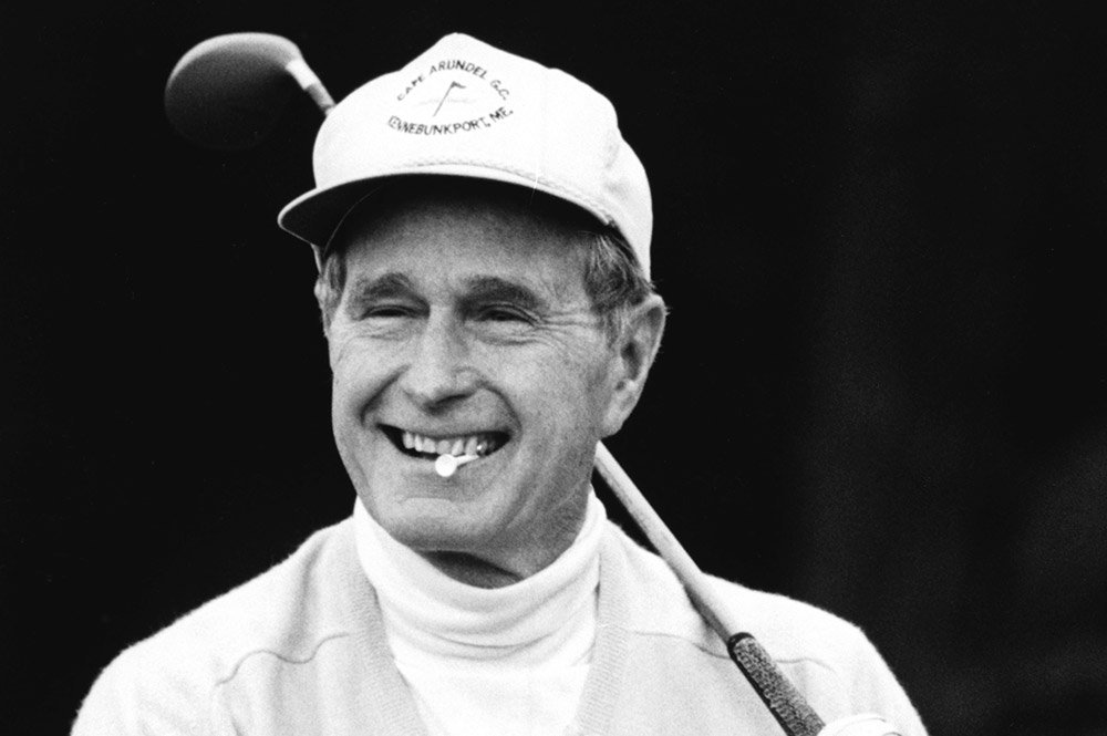 george bush golfing at the biltmore