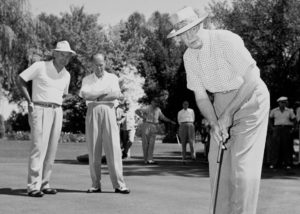 Dwight Eisenhower golfing at Arizona Biltmore