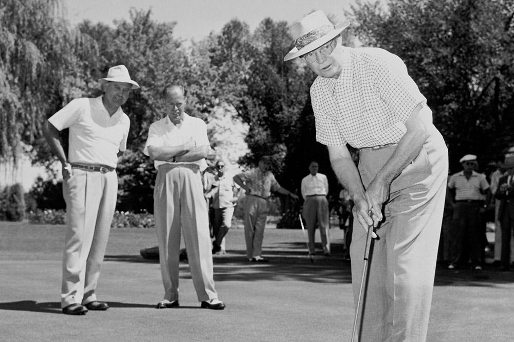 Dwight Eisenhower golfing at Arizona Biltmore