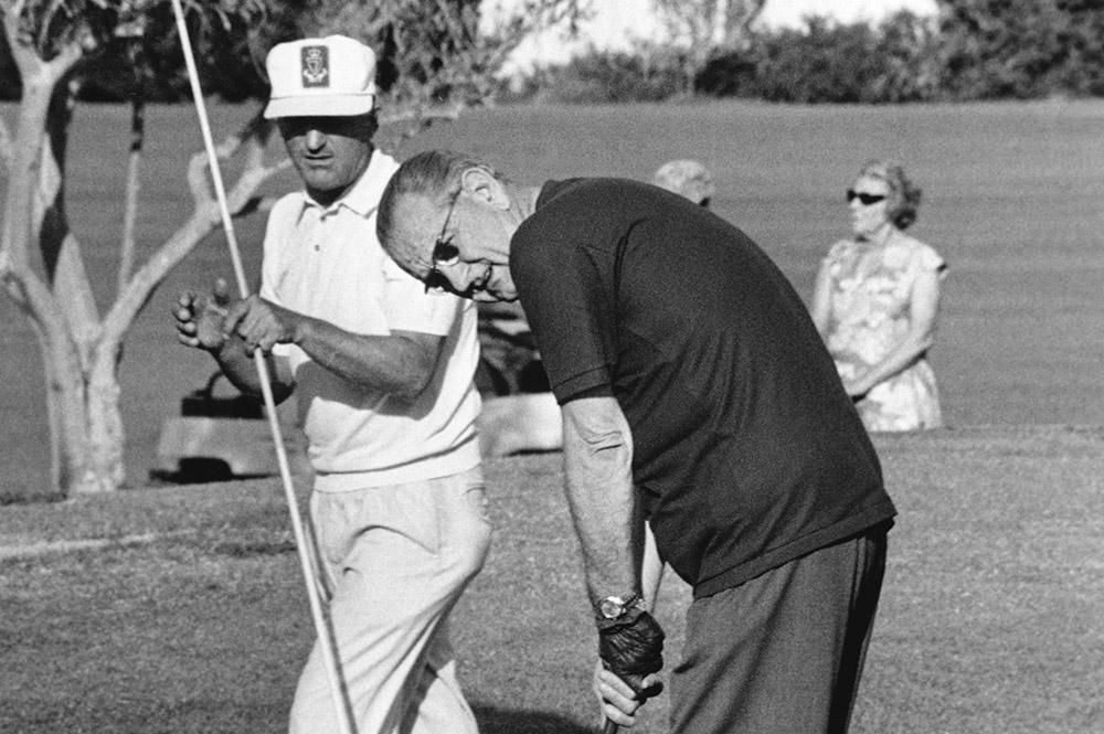 Lyndon Johnson Golfing at Arizona Biltmore Golf Resort