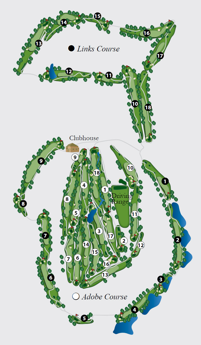 Arizona Biltmore Golf Course Map