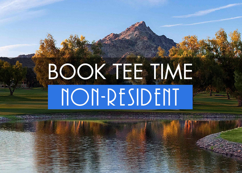 Book Tee Times - Non-Resident