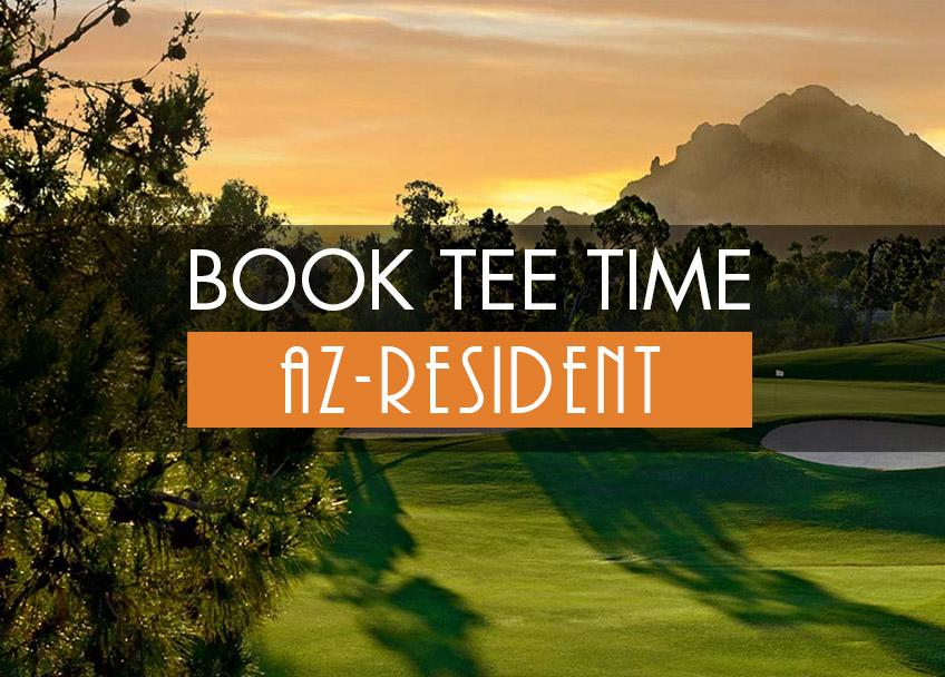 Book Tee Times - Arizona Resident
