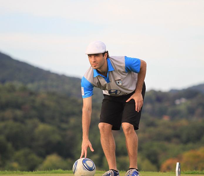 FootGolf Golfer Teeing Off